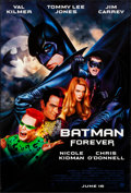 "Movie Posters:Action, Batman Forever (Warner Brothers, 1995). Rolled, Very Fine-. One Sheet (27"" X 40"") DS Advance, John Alvin and Page Wood Artwo..."