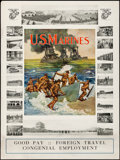 """Movie Posters:War, U.S. Marines (Early 1910s). Rolled, Fine+. Recruitment Poster (30"""" X 40"""") """"Soldiers of the Sea."""" War.. ..."""