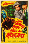 """Movie Posters:Comedy, The Bowery Boys Meet the Monsters (Allied Artists, 1954). Folded,Fine/Very Fine. One Sheet (27"""" X 41""""). Comedy.. ...."""