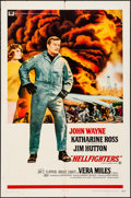 """Movie Posters:Action, Hellfighters (Universal, 1969). Folded, Fine+. One Sheet (27"""" X 41""""). Action.. ..."""
