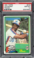 Baseball Cards:Singles (1970-Now), 1981 Topps Traded Tim Raines #816 PSA Gem Mint 10....