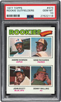 Baseball Cards:Singles (1970-Now), 1977 Topps Andre Dawson - Rookie Outfielders #473 PSA Gem Mint 10....