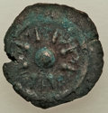 Ancients:Judaea, Ancients: JUDAEA. Hasmoneans. Alexander Jannaeus (103-76 BC). AE prutah (15mm, 2.50 gm). VF....