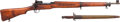 """Long Guns:Bolt Action, U.S. Remington Model of 1917 """"Eddystone"""" Bolt Action Rifle withBayonet.. ... (Total: 2 Items)"""