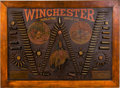 "Advertising:Signs, Rare Winchester Single ""W"" Model 1890 Cartridge Board,. ..."