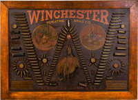 "Rare Winchester Single ""W"" Model 1890 Cartridge Board"