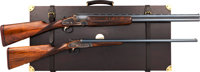 Lot of Two Outstanding Cased and Engraved Aguirre y Aranzabal Double Barrel Shotguns
