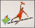 Basketball Collectibles:Others, c. 1990s Michael Jordan Balllpark Hot Dogs Poster....