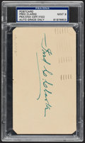 Autographs:Post Cards, 1951 Fred Clarke Signed Government Postcard, PSA/DNA Mint 9....