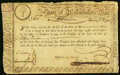 Massachusetts Treasury Certificate Class the Fourth £15 February 5, 1780 Anderson MA-16 Very Fine