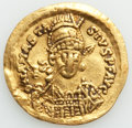 Ancients:Byzantine, Ancients: OSTROGOTHS. Theoderic (AD 493-526), in the name ofAnastasius I. AV solidus (19mm, 4.13 gm, 6h). VF, gouges, clipped....