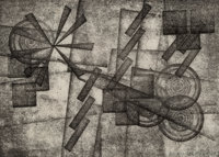 Rolph Scarlett (Canadian/American, 1889-1984) Untitled (Geometic Abstraction) Monotype on paper 6