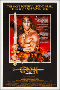 """Conan the Destroyer (Universal, 1984). Very Fine+ on Linen. One Sheet (27"""" X 41""""). Action"""
