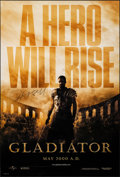 "Movie Posters:Action, Gladiator (Universal, 2000). Rolled, Very Fine/Near Mint. Autographed One Sheet (27"" X 40"") DS, Advance. Action.. ..."