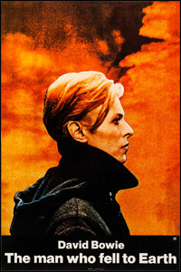 """The Man Who Fell to Earth (Cinema 5, 1976). Fine/Very Fine on Linen. Full-Bleed One Sheet (27"""" X 41""""). Science..."""