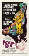 """Movie Posters:Exploitation, Psych-Out (American International, 1968). Very Fine on Linen. Three Sheet (41.25"""" X 79""""). Exploitation.. ..."""