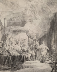 Rembrandt van Rijn (Dutch, 1606-1669) The Death of the Virgin, 1639 Etching and drypoint on laid pap