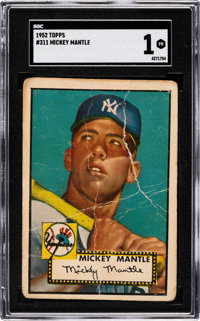 1952 Topps Mickey Mantle #311 SGC 10 Poor 1