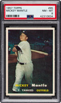 Baseball Cards:Singles (1950-1959), 1957 Topps Mickey Mantle #95 PSA NM-MT 8. The pins...