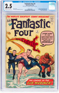 Silver Age (1956-1969):Superhero, Fantastic Four #4 (Marvel, 1962) CGC GD+ 2.5 Off-white to ...