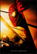 "Movie Posters:Action, Spider-Man (Columbia, 2002). Rolled, Very Fine. One Sheet (27"" X 40"") SS Advance Twin Towers Style. Action.. ..."