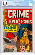 Golden Age (1938-1955):Crime, Crime SuspenStories #22 (EC, 1954) CGC FN+ 6.5 Off-white pages....