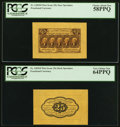 Fractional Currency:First Issue, Fr. 1282SP 25¢ First Issue Wide Margin Pair.. ... (Total: 2 notes)