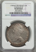 Mexico: Charles III 8 Reales 1789 Mo-FM XF Details (Repaired) NGC