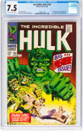 Silver Age (1956-1969):Superhero, The Incredible Hulk #102 (Marvel, 1968) CGC VF- 7.5 Off-wh...