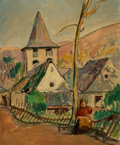 Paintings, Henri Baptiste Lebasque (French, 1865-1937). Le Village, 1937. Oil on canvas. 24-1/4 x 20 inches (61.6 x 50.8 cm). Inscr...