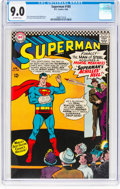 Silver Age (1956-1969):Superhero, Superman #185 (DC, 1966) CGC VF/NM 9.0 Off-white pages.