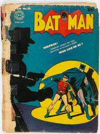 Batman #16 Incomplete (DC, 1943) Condition: PR