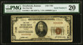 National Bank Notes:Kansas, Overbrook, KS - $20 1929 Ty. 1 The First NB Ch. # 7195 PMG Very Fine 20.. ...