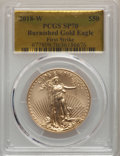 Modern Bullion Coins: , 2018-W G$50 One Ounce Gold Eagle, Burnished, First Strike, SP70 PCGS. Pop (511)