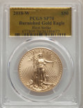 2018-W G$50 One Ounce Gold Eagle, Burnished, First Strike, SP70 PCGS