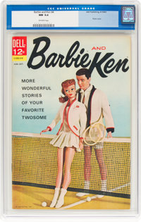 Barbie and Ken #4 (Dell, 1963) CGC NM 9.4 Off-white pages