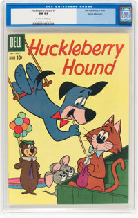 Huckleberry Hound #7 White Mountain Pedigree (Dell, 1960) CGC NM 9.4 Off-white to white pages