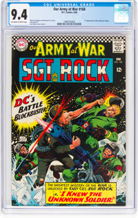 Our Army at War #168 (DC, 1966) CGC NM 9.4 Off-white to white pages
