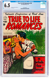 True-To-Life Romances #20 (Star Publications, 1954) CGC FN+ 6.5 Light tan to off-white pages
