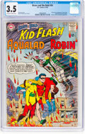 Silver Age (1956-1969):Superhero, The Brave and the Bold #54 Kid Flash, Aqualad, and Robin (DC, 1964) CGC VG- 3.5 Off-white to white pages....