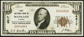 National Bank Notes:Kansas, Mankato, KS - $10 1929 Ty. 1 The Mankato NB Ch. # 6817 About Uncirculated.. ...