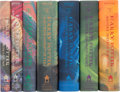 Books:First Editions, J. K. Rowling. The Harry Potter Books, comprising: Harry Potter and the Sorcerer's Stone. New York: Arthur A. Levine... (Total: 7 Items)