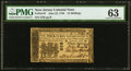 Colonial Notes:New Jersey, New Jersey June 22, 1756 15s PMG Choice Uncirculated 63.. ...