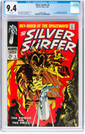 Silver Age (1956-1969):Superhero, The Silver Surfer #3 (Marvel, 1968) CGC NM 9.4 White pages....