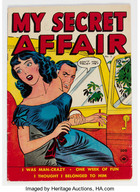 My Secret Affair #3 (Fox Features Syndicate, 1950) Condition: FN-....