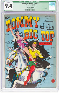 Tommy of the Big Top #12 Mile High Pedigree (King Features, 1949) CGC Qualified NM 9.4 Off-white to white pages