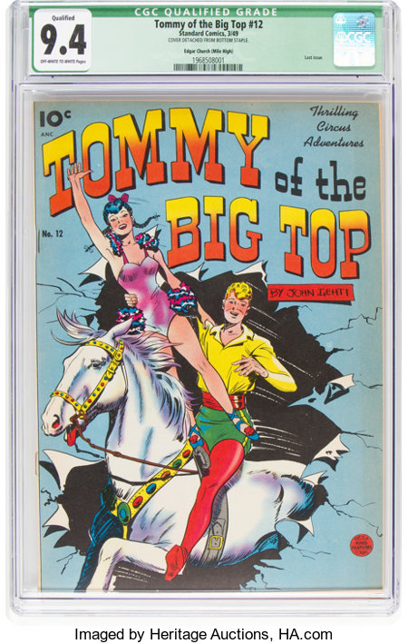 Tommy of the Big Top #12 Mile High Pedigree (King Features, 1949) CGC Qualified NM 9.4 Off-white to white pages....