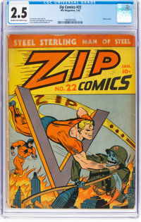Zip Comics #22 (MLJ, 1942) CGC GD+ 2.5 Cream to off-white pages