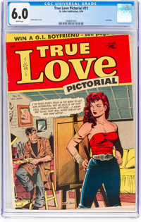 True Love Pictorial #11 (St. John, 1954) CGC FN 6.0 White pages