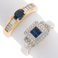 Estate Jewelry:Rings, Sapphire, Diamond, Gold Rings The lot includes...